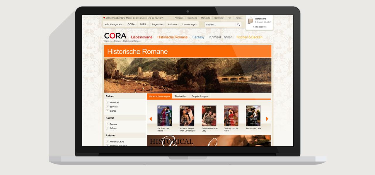 Cora - Online-Shop Kategorie