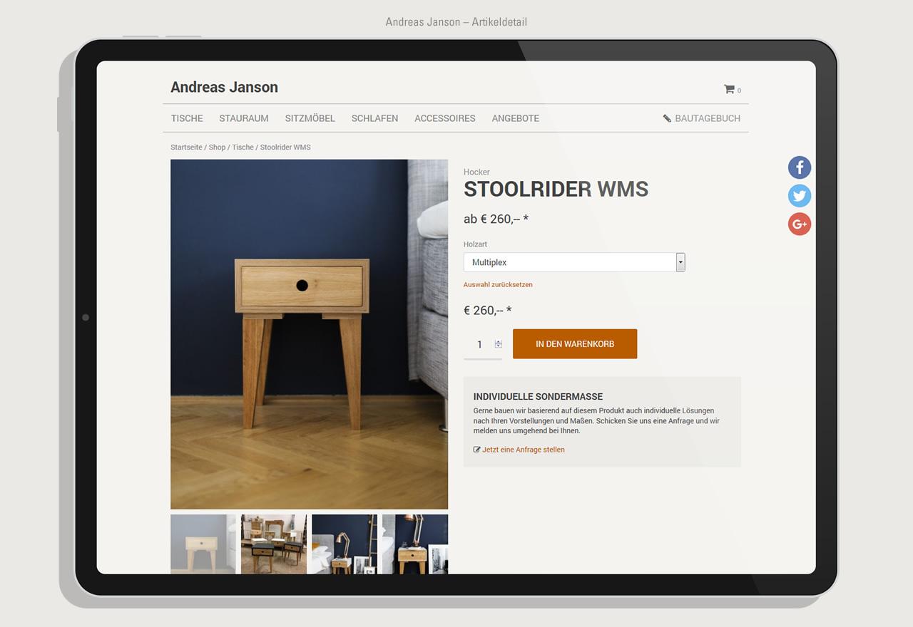 Andreas Janson - Shop Artikeldetail
