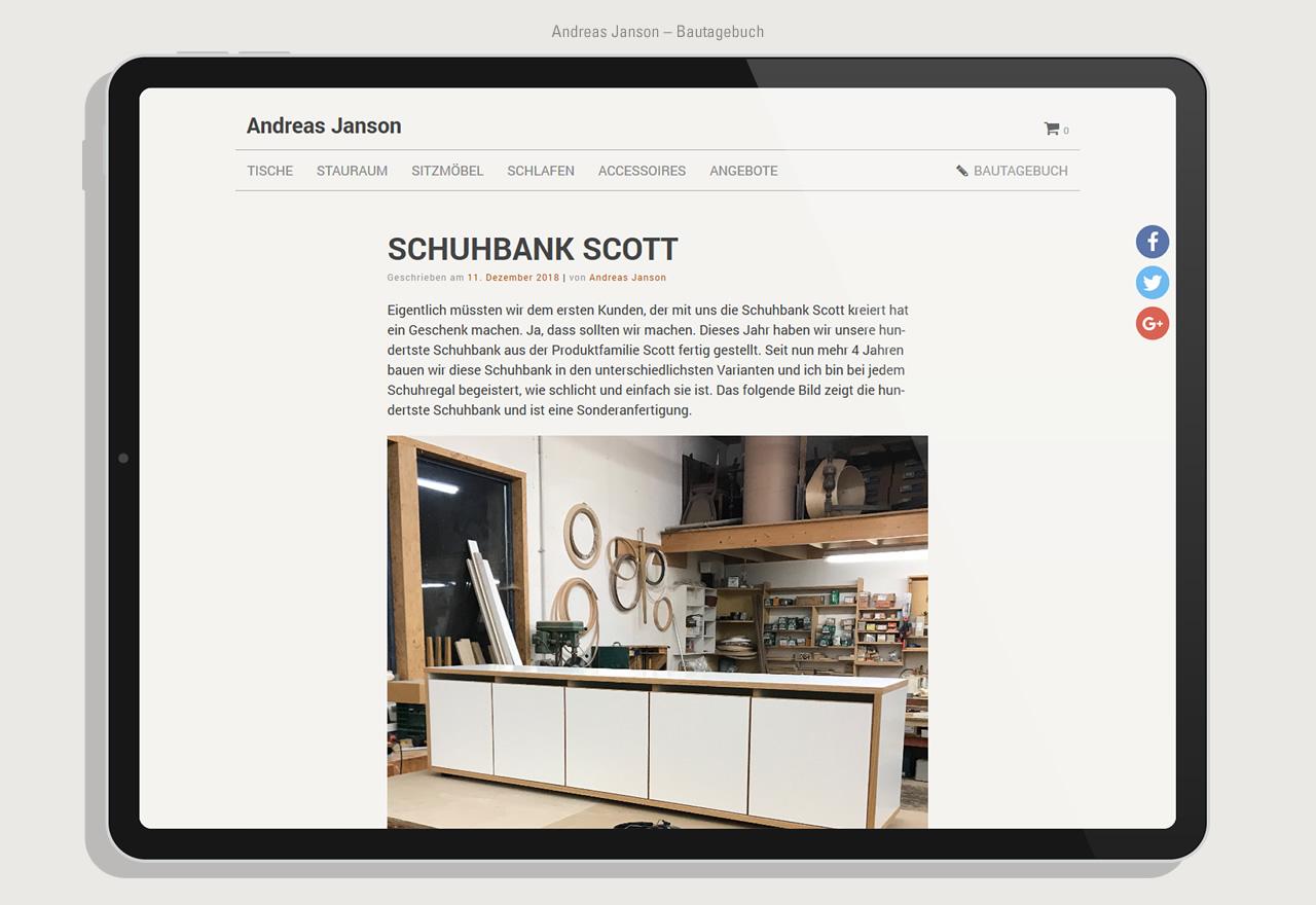 Andreas Janson - Shop Blog