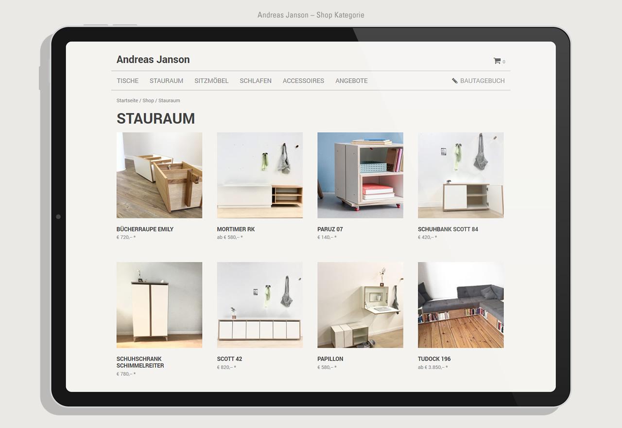 Andreas Janson - Shop Kategorie