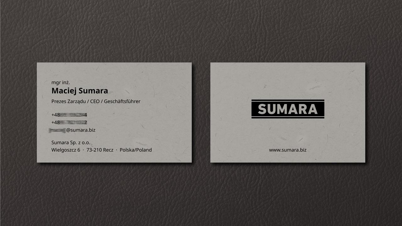 Sumara - Visitenkarte